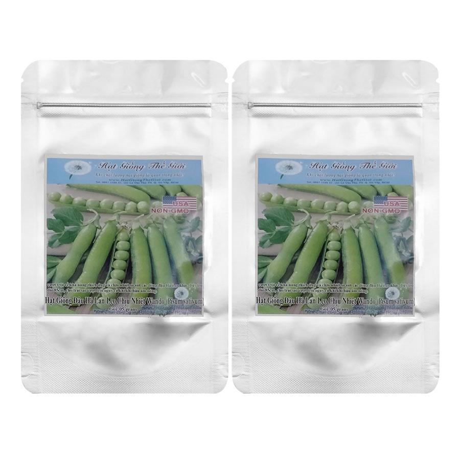 Bộ 2 Túi Hạt Giống Đậu Hà Lan Leo Chịu Nhiệt - Wando Xuất Sắc (Pisum sativum) 5g