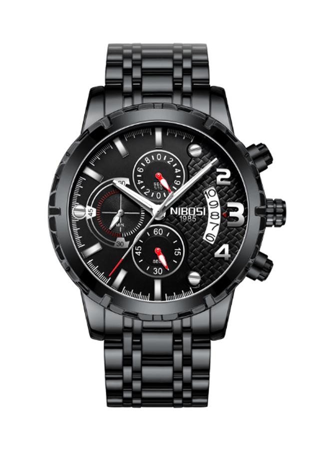 Đồng hồ nam dây thép đặc Nibosi 2356