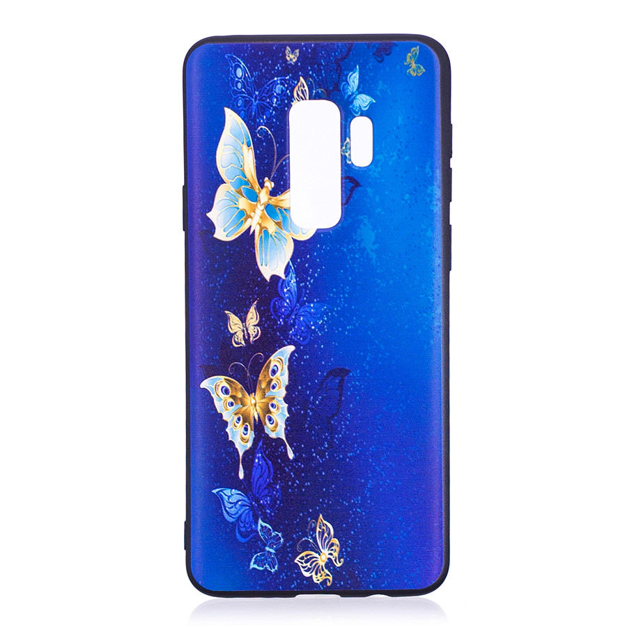 Samsung Galaxy S9 Plus Case Embossed Printing Soft TPU Back Cover Anti-dust Shockproof for Samsung Galaxy S9 Plus