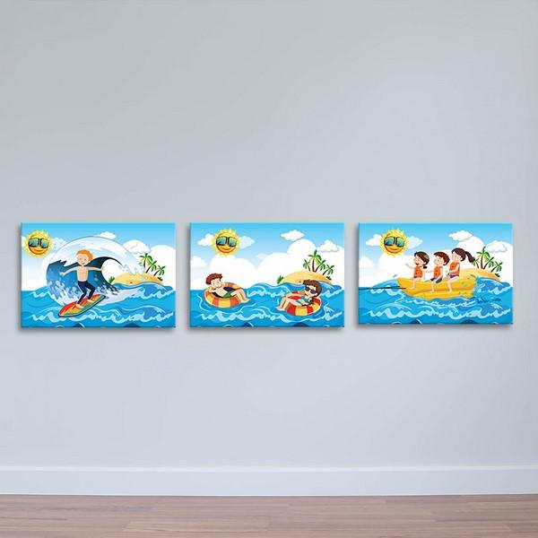 Tranh Treo Tường Canvas Trang Trí Phòng Ngủ  Dành Cho Bé W1191