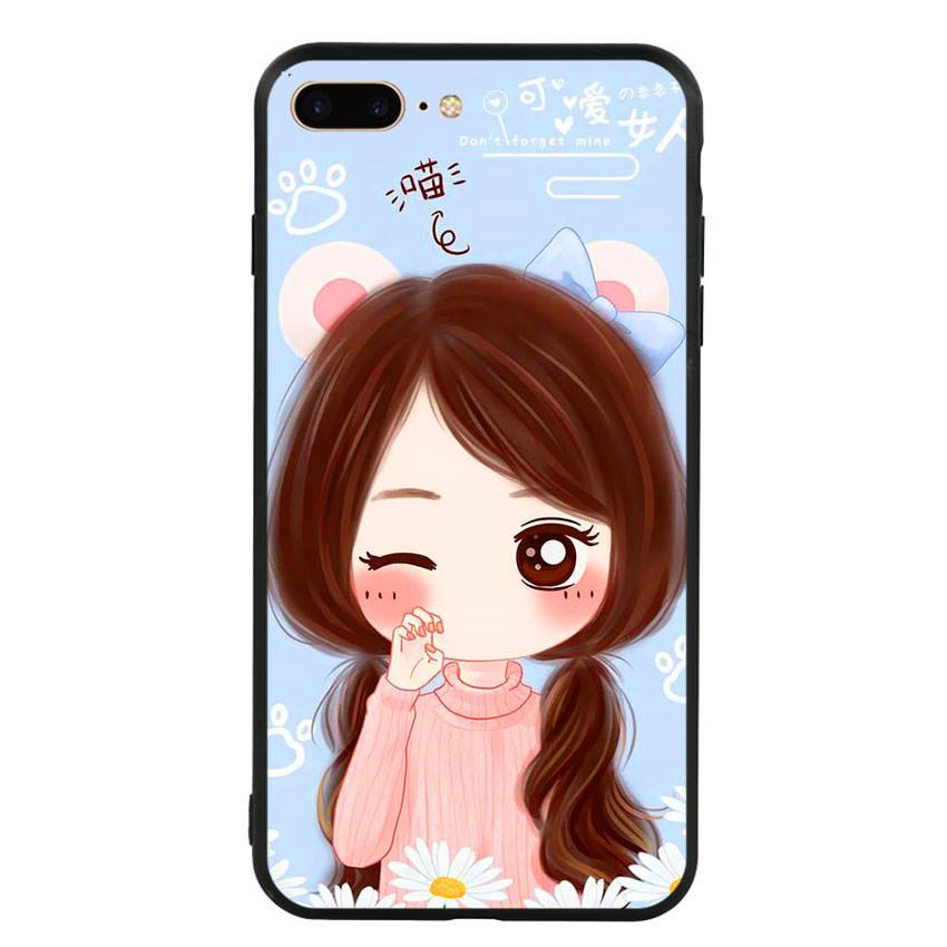 Ốp lưng viền TPU cao cấp cho điện thoại Iphone 7 Plus/8 Plus -Baby Girl