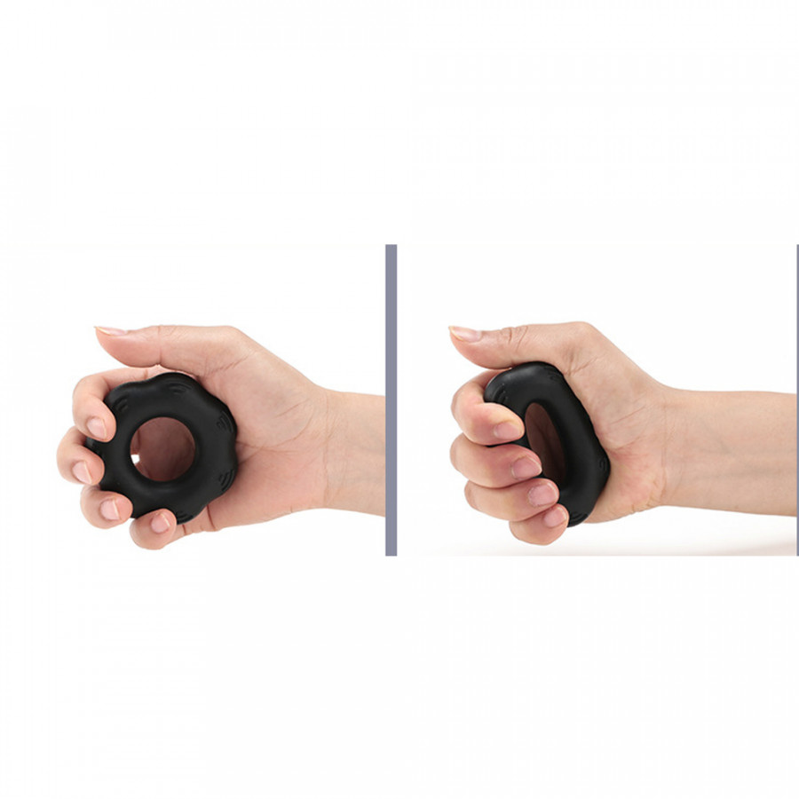 Silica Gel Portable Muscle Power Training Silicone Grip Ring Exerciser Strength Finger Hands Grip Fitness Equipement