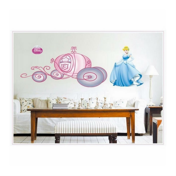 Decal Dán Tường Cô Bé Lọ Lem EB52 (50 x 150 cm)