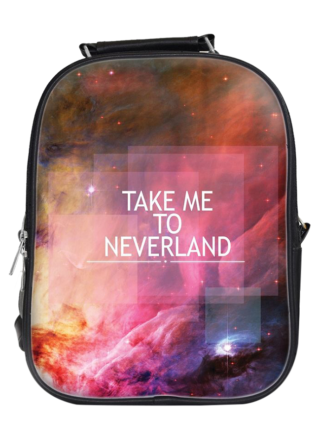 Balo Unisex In Hình Take Me To Neverland - BLTE020