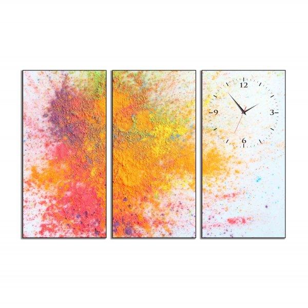 Tranh đồng hồ in Canvas Lễ hội Holi - 3 mảnh - 7073755 , 4183420615637 , 62_10353696 , 987500 , Tranh-dong-ho-in-Canvas-Le-hoi-Holi-3-manh-62_10353696 , tiki.vn , Tranh đồng hồ in Canvas Lễ hội Holi - 3 mảnh