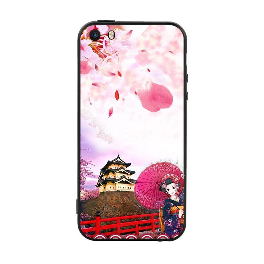 Ốp Lưng Viền TPU Cao Cấp Dành Cho iPhone 5 / 5s - Nhật Bản