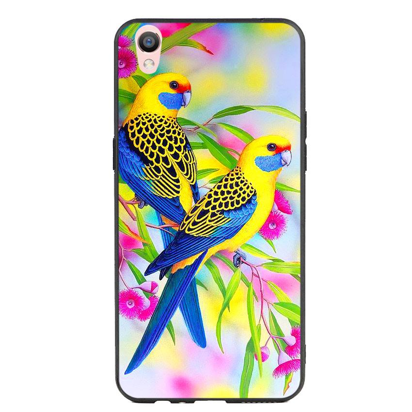 Ốp lưng nhựa cứng viền dẻo TPU cho điện thoại Oppo F1 Plus - Couple Bird
