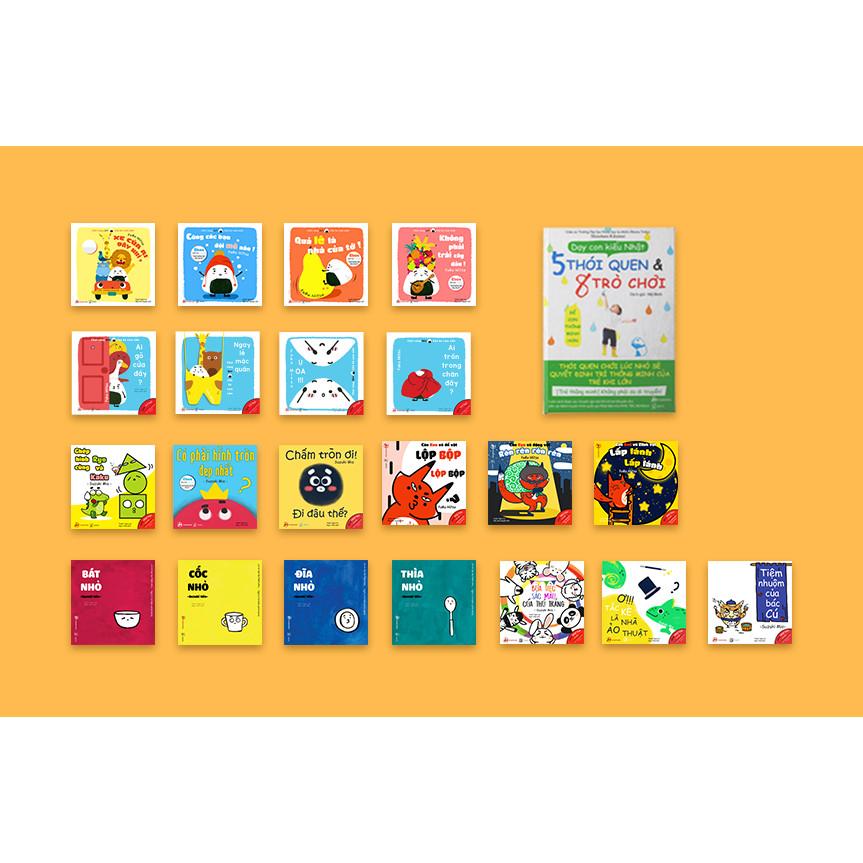 Full 22 cuốn sách gồm 6 bộ Ehon 21 cuốn giúp con thông minh và 1 sách dạy con kiểu Nhật