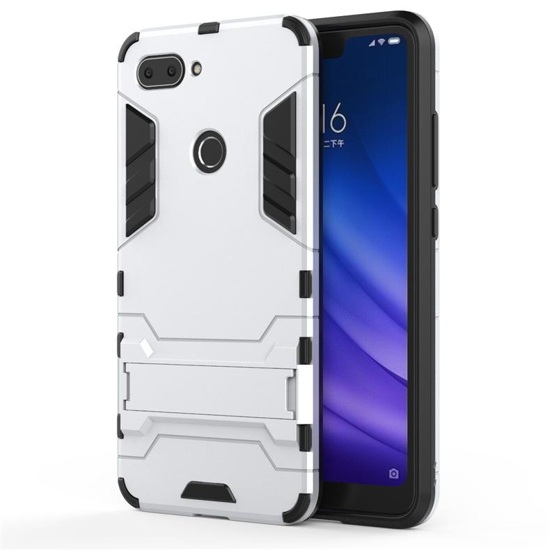Ốp Lưng Cho Xiaomi Mi 8 Lite iRON - MAN Nhựa PC Cứng Viền Dẻo Chống Sốc