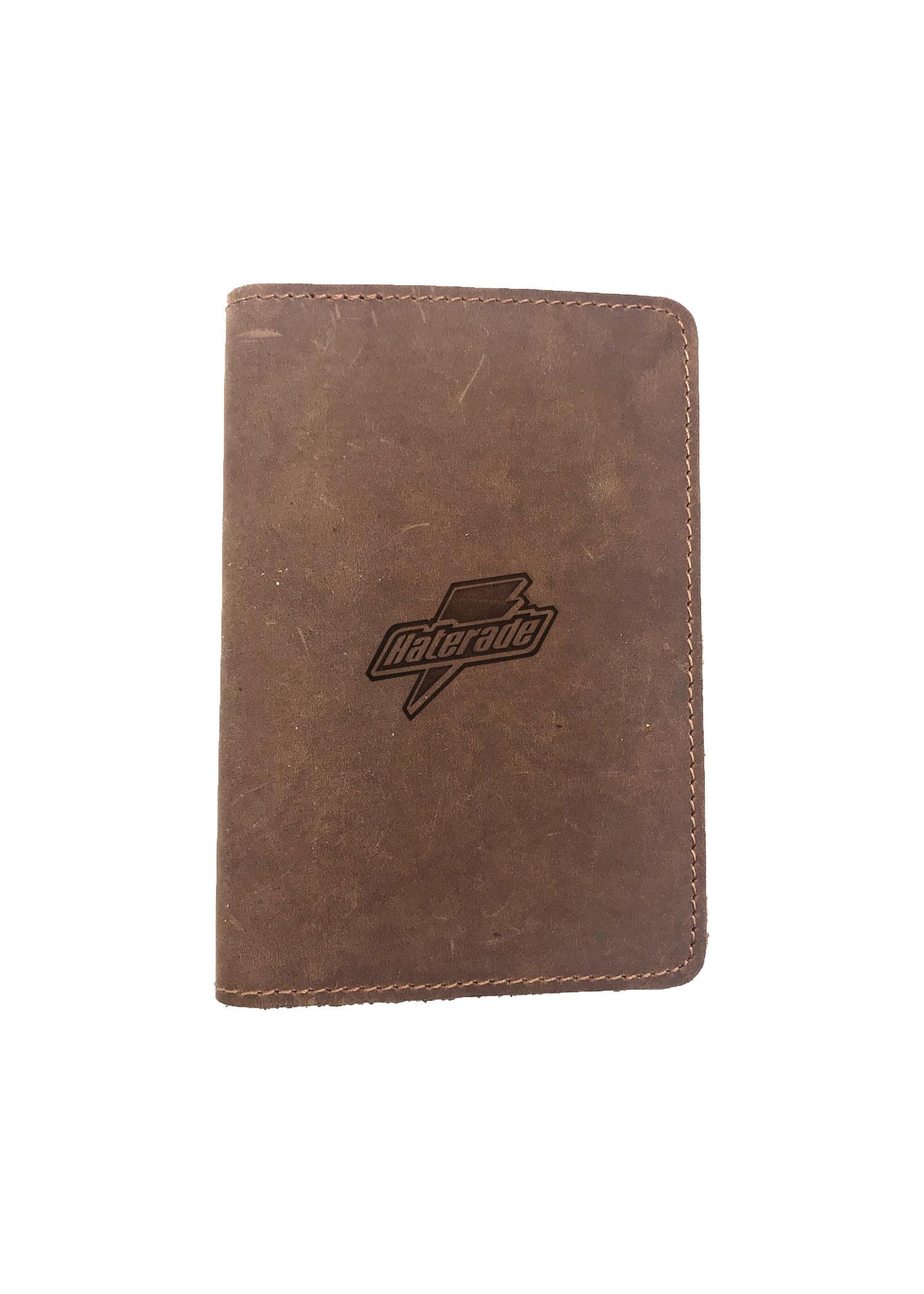 Passport Cover Bao Da Hộ Chiếu Da Sáp Khắc Hình Hình HATERADE (BROWN)