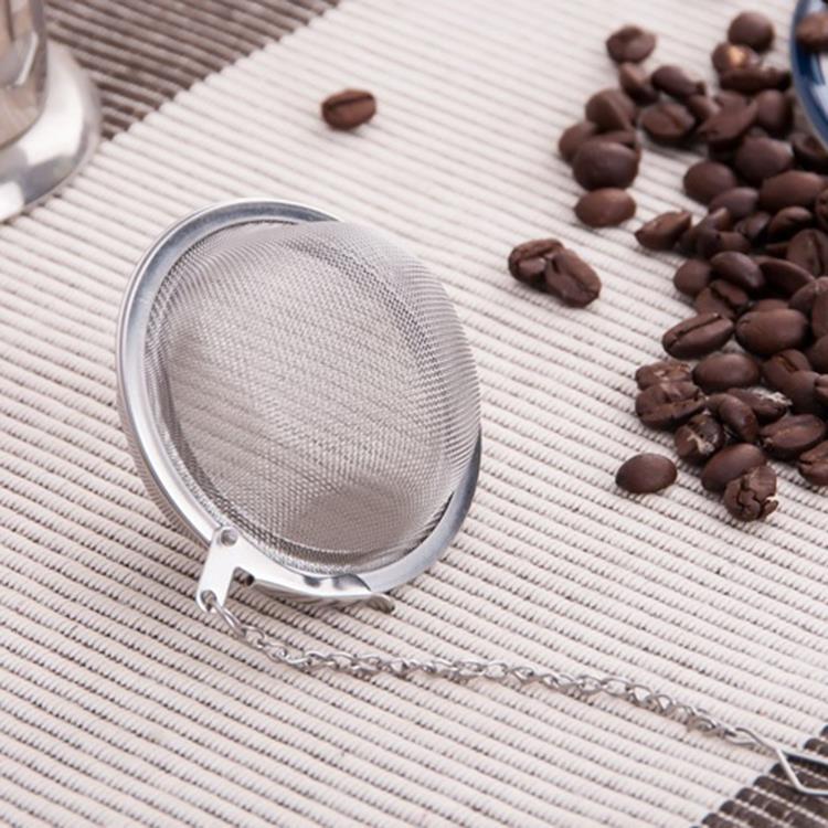 4.5cm Stainless Steel Strainer Tea Leaf Coffee Filter Spoon Locking Spice Ball