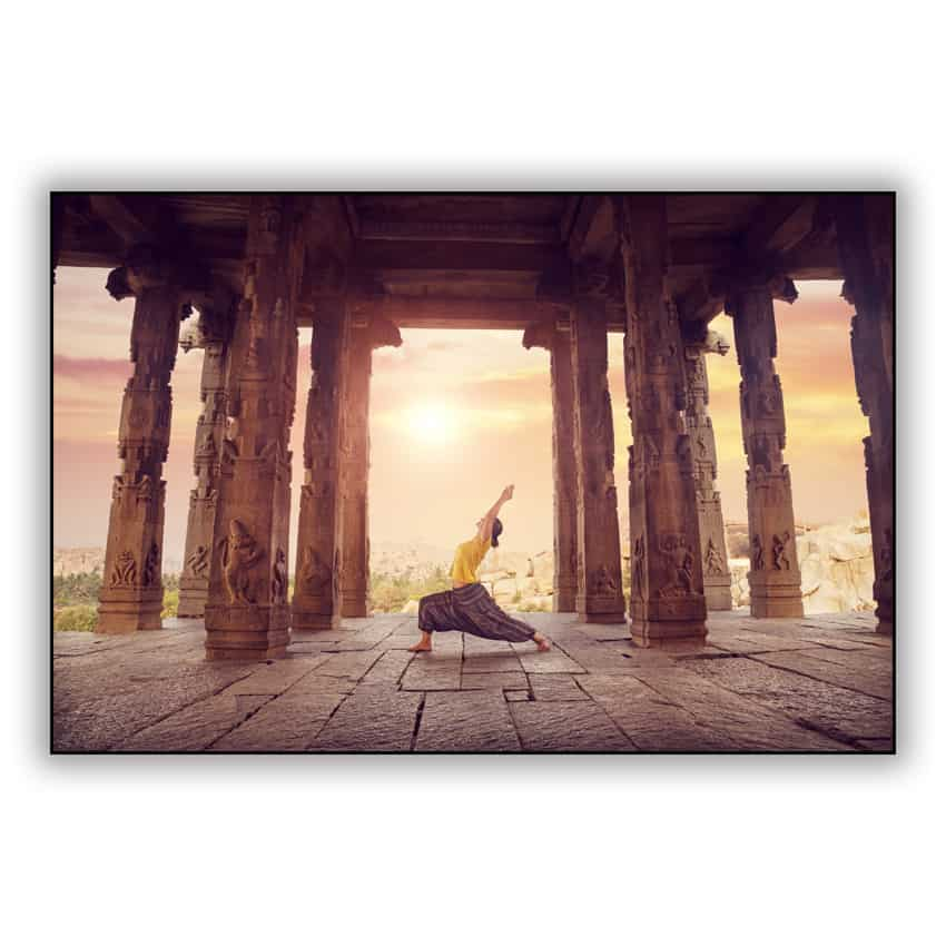 Tranh trang trí in Canvas Tập Yoga Ở Đền Hampi