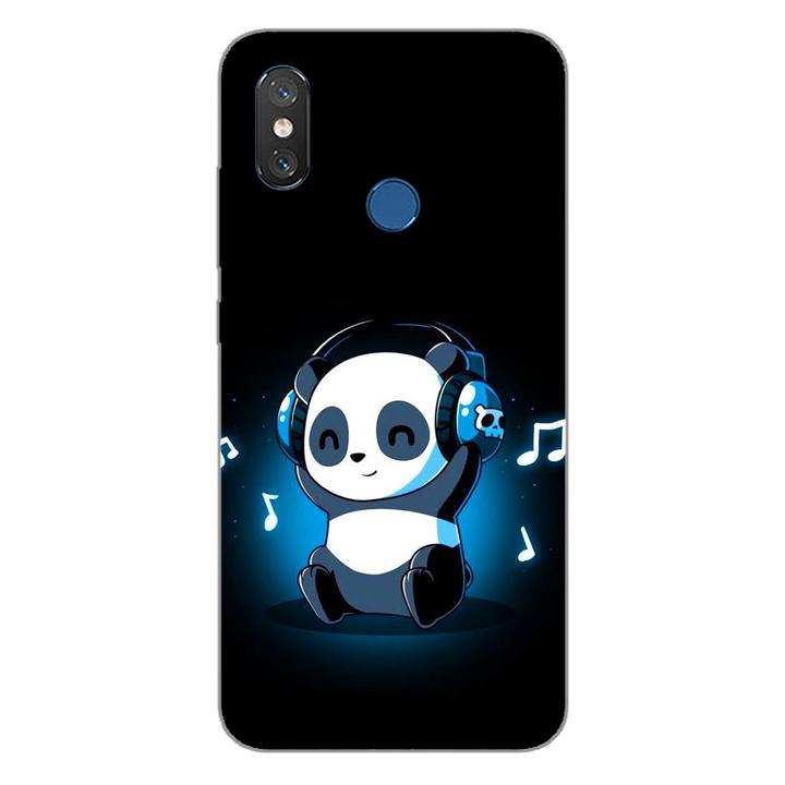 Ốp lưng dẻo cho điện thoại Xiaomi Mi 8_Panda 05