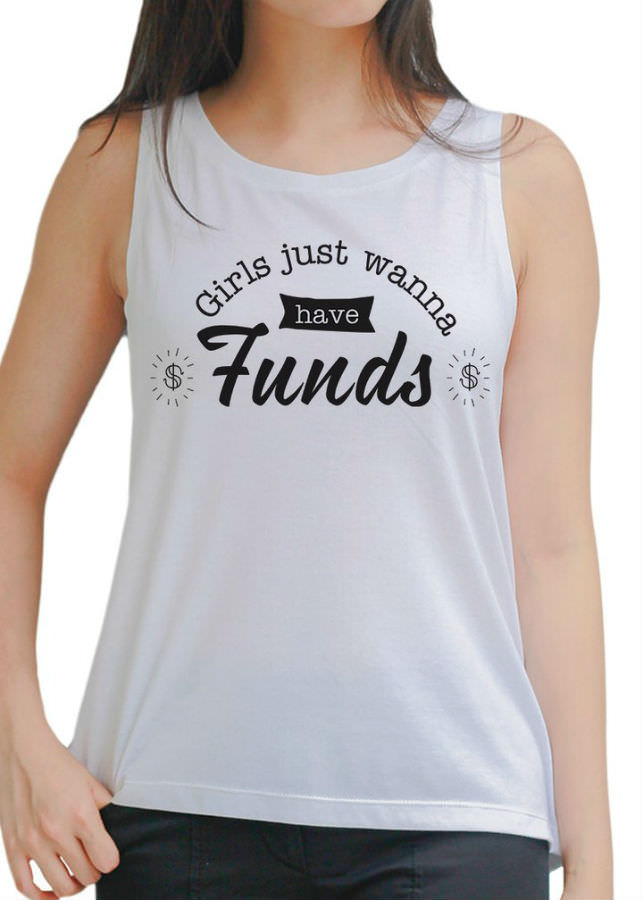 Áo Tanktop Nữ Funds - Trắng