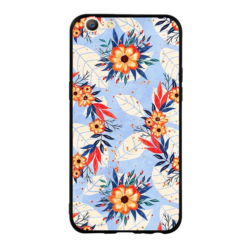 Ốp lưng viền TPU cho điện thoại Oppo F3 Lite (A57) - Flower 16