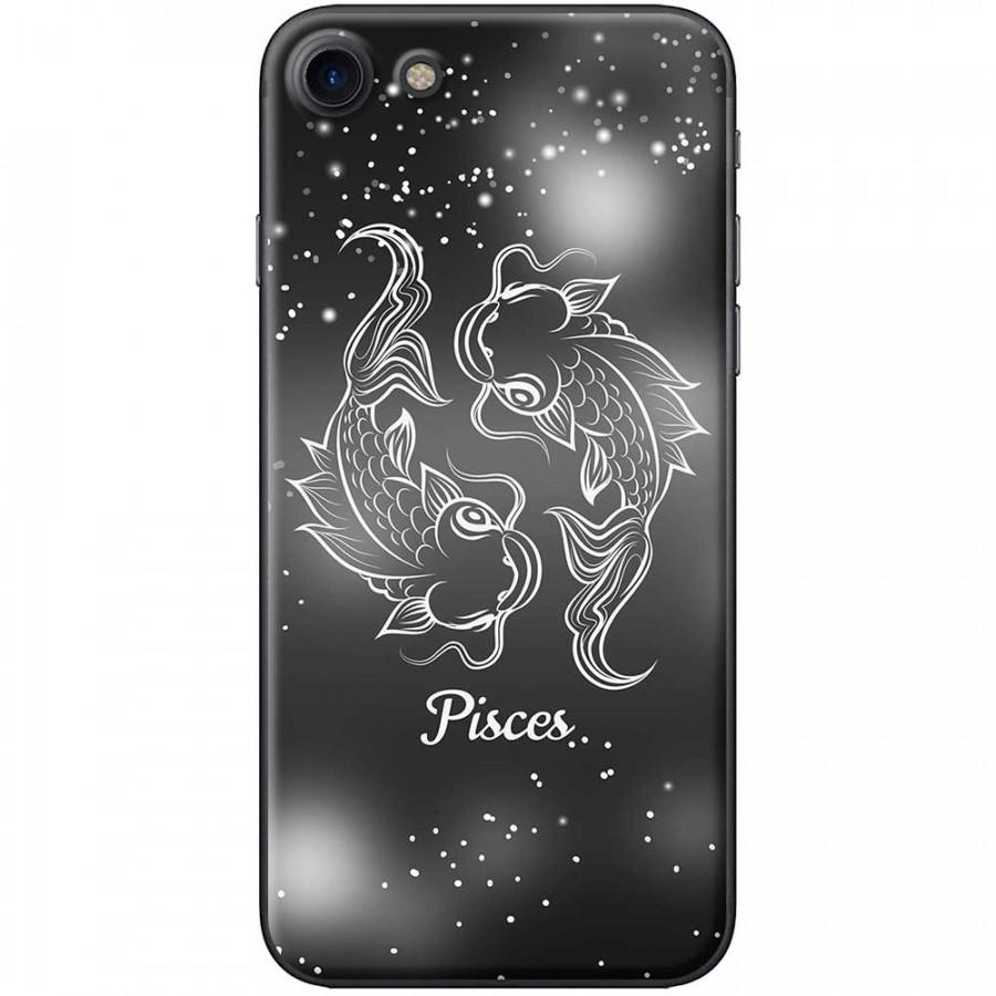 Ốp lưng  dành cho iPhone 7, iPhone 8 mẫu Cung hoàng đạo Pisces (đen)