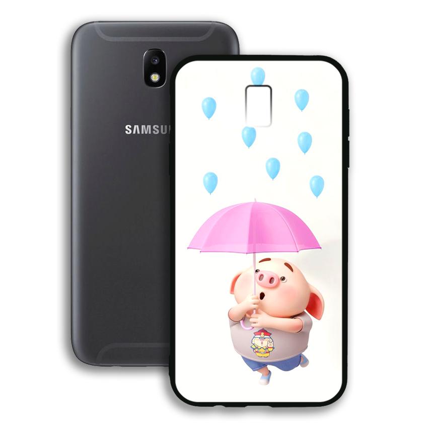 Ốp lưng viền TPU cho điện thoại Samsung Galaxy J7 Pro - 02036 0523 PIG26 - Hàng Chính Hãng
