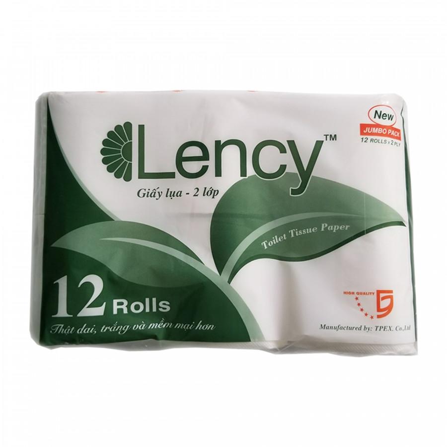 Giấy vệ sinh LENCY cao cấp Lốc 12 cuộn ( 2 lớp )