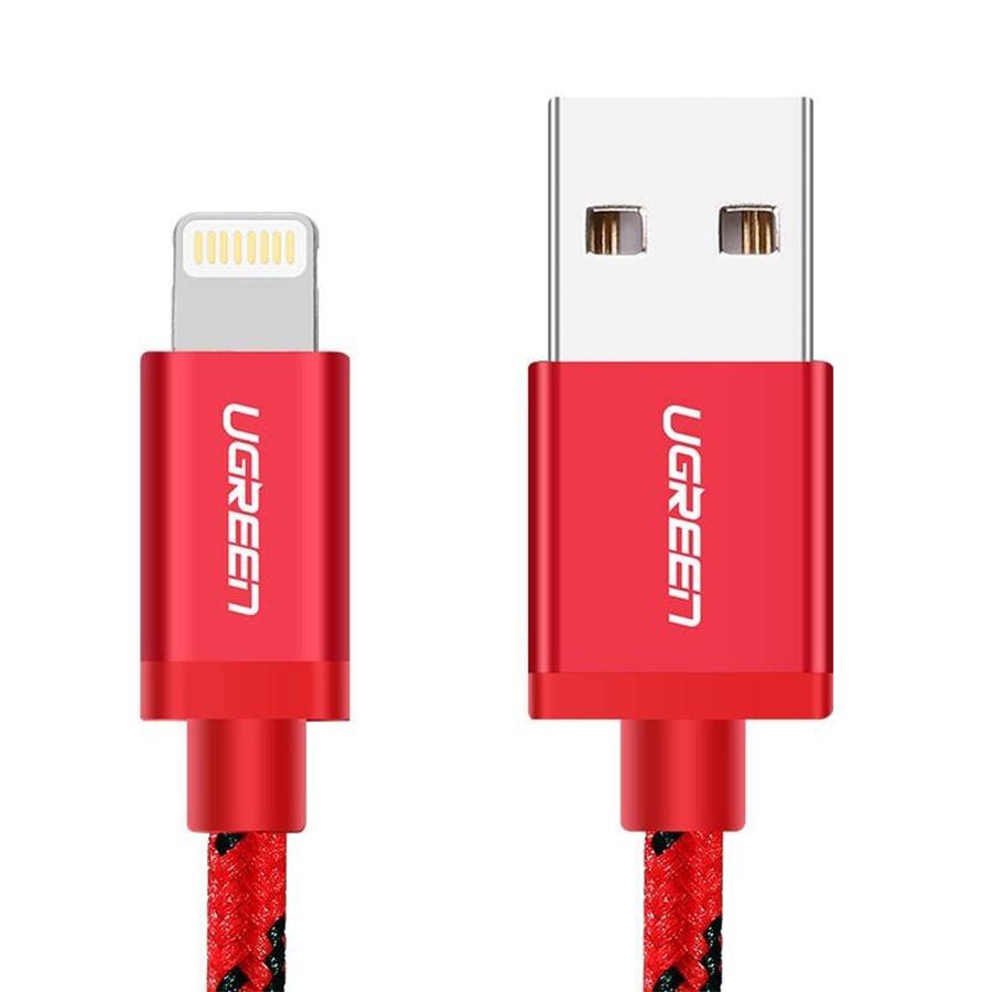 Dây cáp sạc Lightning cho iPhone Chuẩn MFI Ugreen 40479 1m - 1355332 , 2084007613836 , 62_11496966 , 320000 , Day-cap-sac-Lightning-cho-iPhone-Chuan-MFI-Ugreen-40479-1m-62_11496966 , tiki.vn , Dây cáp sạc Lightning cho iPhone Chuẩn MFI Ugreen 40479 1m