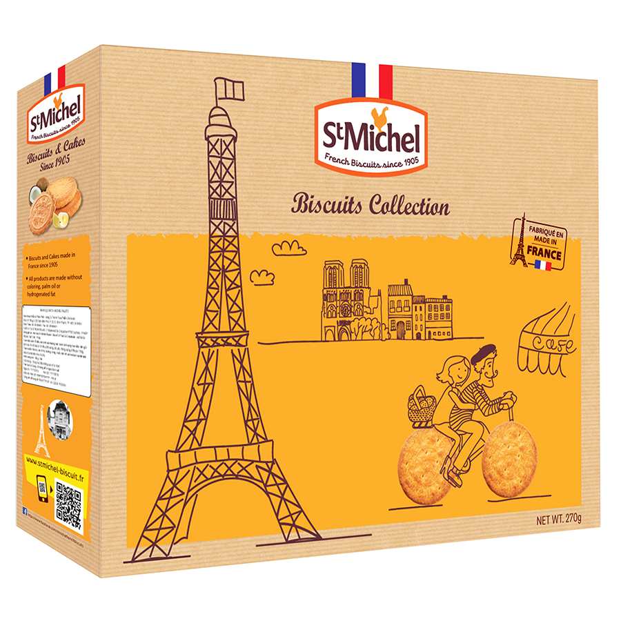 Hộp Quà Bánh Quy Biscuits Collection St Michel (270g)