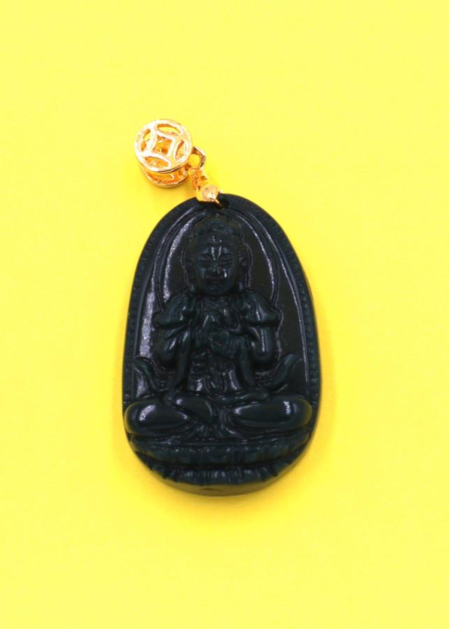 Mặt Phật Đại Nhật như lai đá cẩm thạch 3.6cm