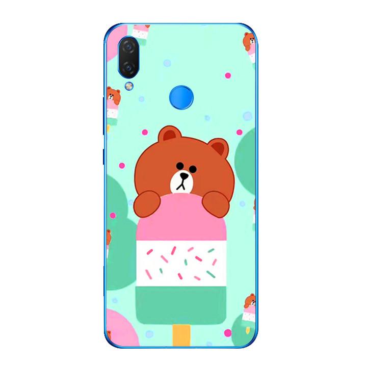 Ốp lưng dẻo cho điện thoại Huawei Y9 2019 - Gấu Brown 04