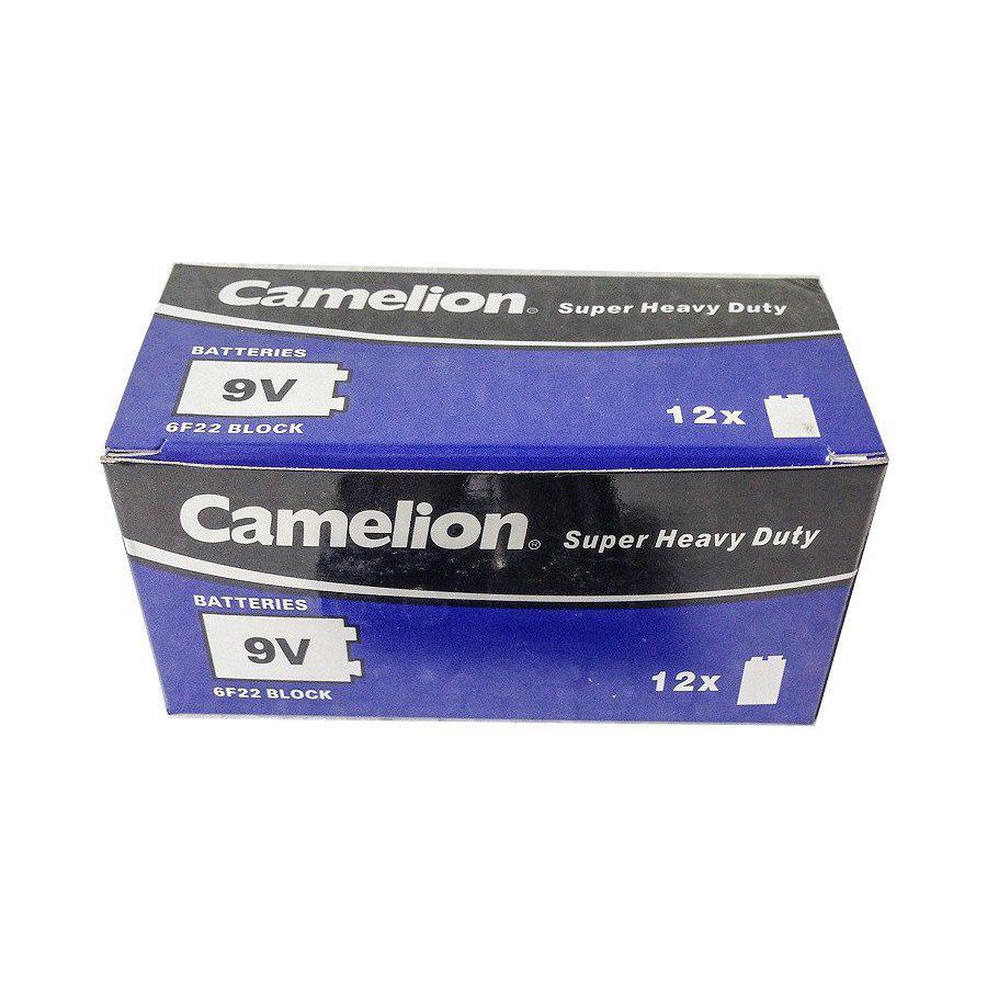 Hộp 12 Viên Pin Khối 9V Camelion 6F22 Battery