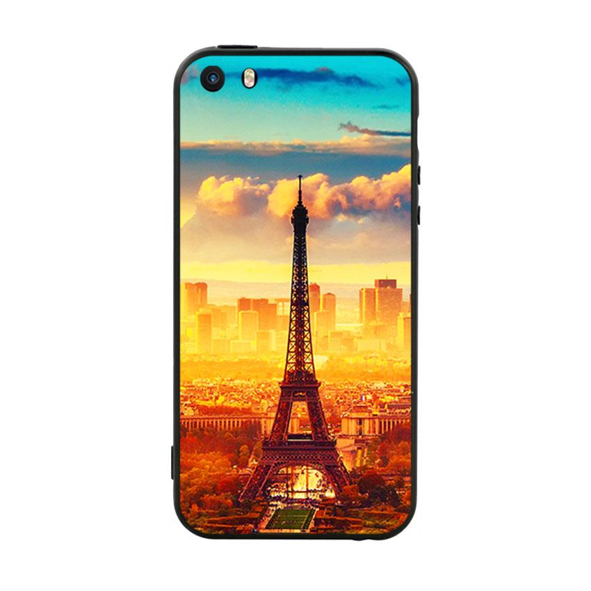 Ốp Lưng Viền TPU Cao Cấp Dành Cho iPhone 5 / 5s - Paris 01