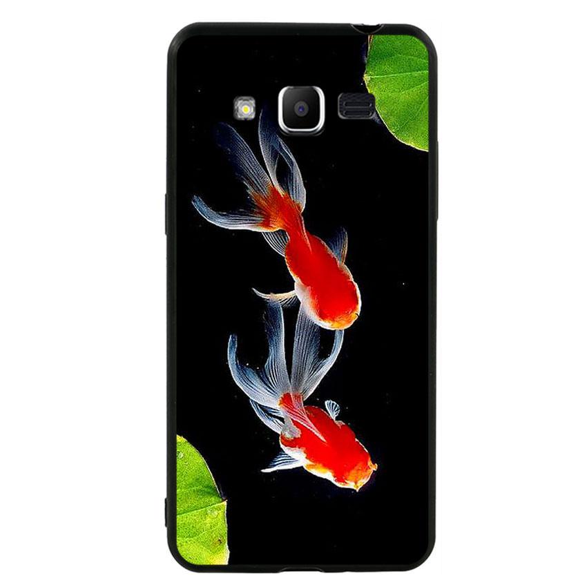 Ốp lưng nhựa cứng viền dẻo TPU cho điện thoại Samsung Galaxy J2 Prime - Cá Koi 03