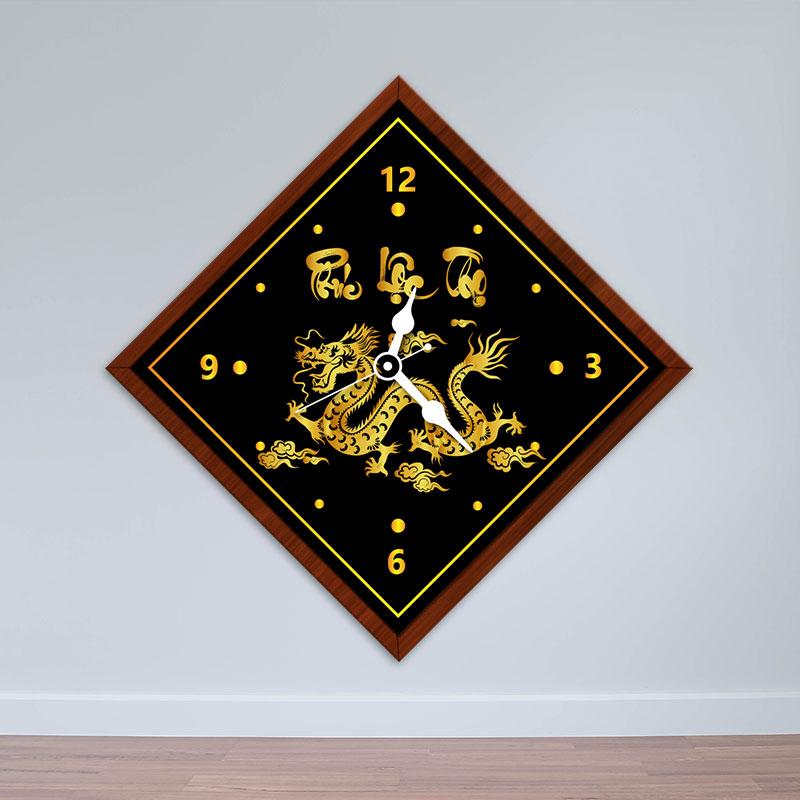 Đồng hồ treo tường hình con Rồng | Đồng hồ cho người tuổi Thìn WC043