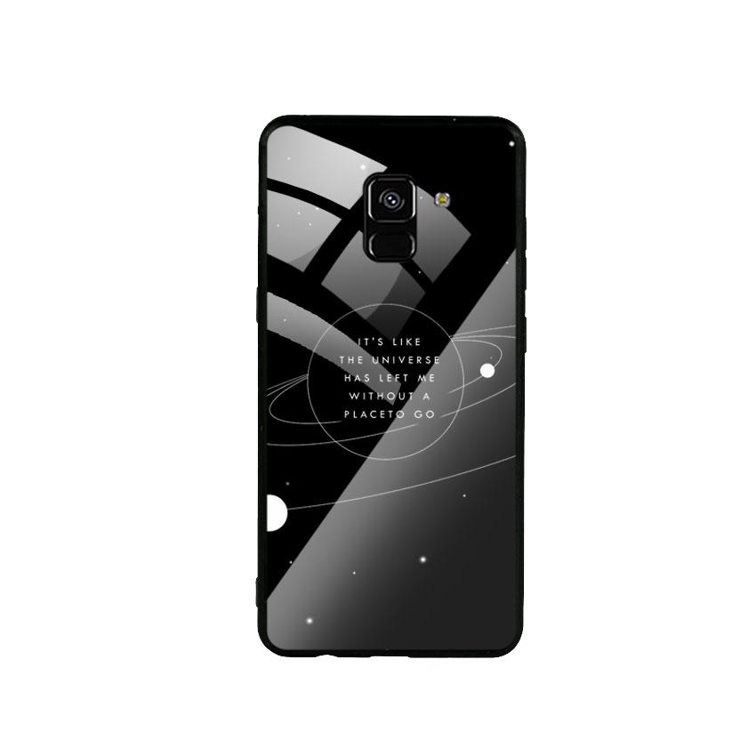 Ốp Lưng Kính Cường Lực cho điện thoại Samsung Galaxy A8 2018 - Alone 02