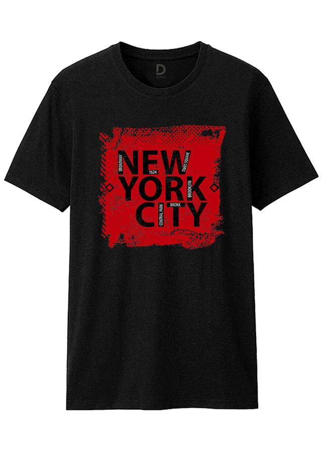 Áo Thun T-shirt Unisex Dotilo New York City HM003A - Đen