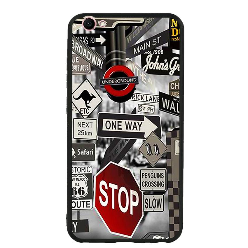 Ốp lưng viền TPU cho điện thoại Vivo V5 -Street 01