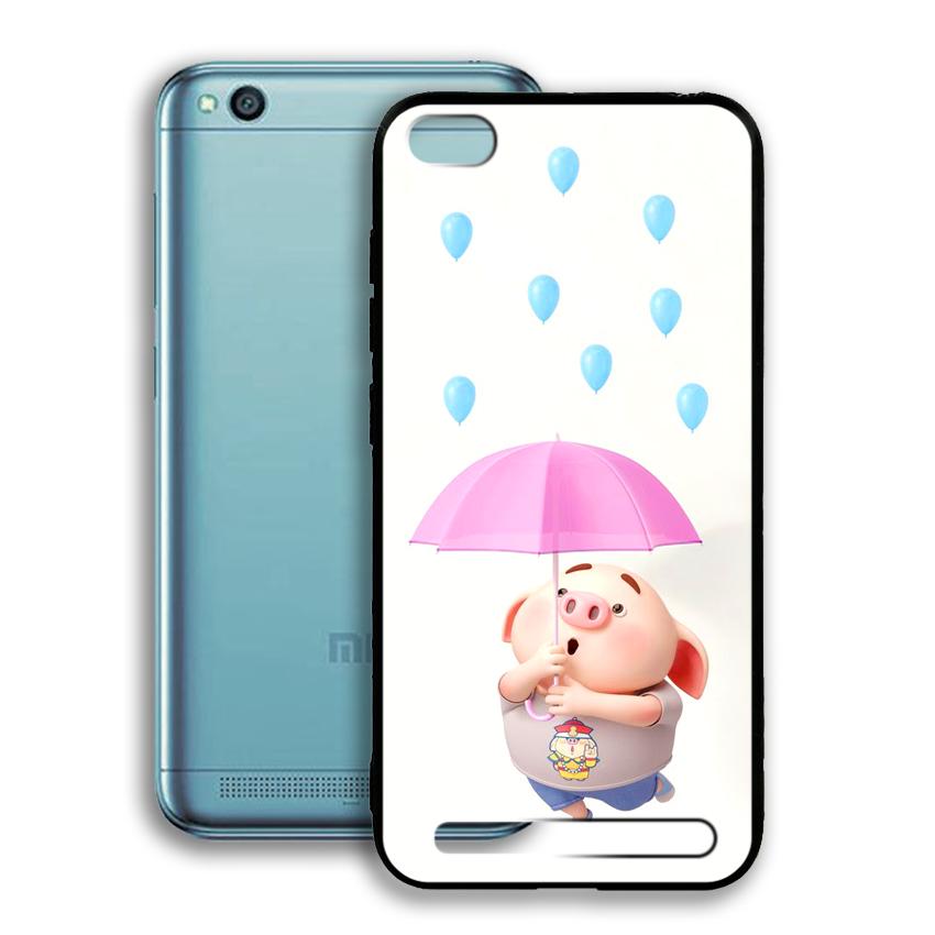 Ốp lưng viền TPU cho điện thoại Xiaomi Redmi 5A - 02083 0523 PIG26 - Hàng Chính Hãng