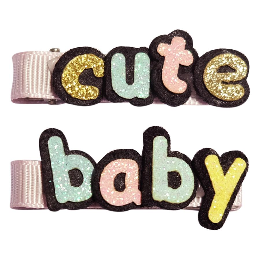 Set Kẹp Chữ Cute Baby Bé Gái CucKeo Kids T101824 - Đủ Màu