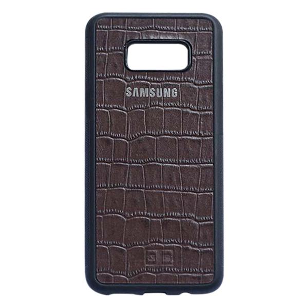 Ốp Lưng Da Bò Vân Cá Sấu Samsung Galaxy S8 Plus GoldBlack + Tặng Logo