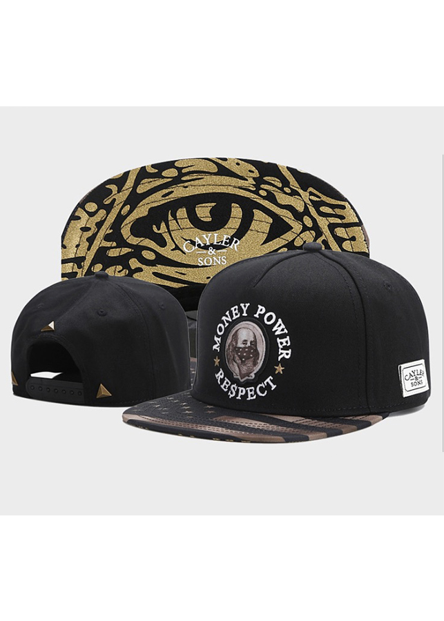 Mũ Snapback Caylor And Sons vải kaki Money Power