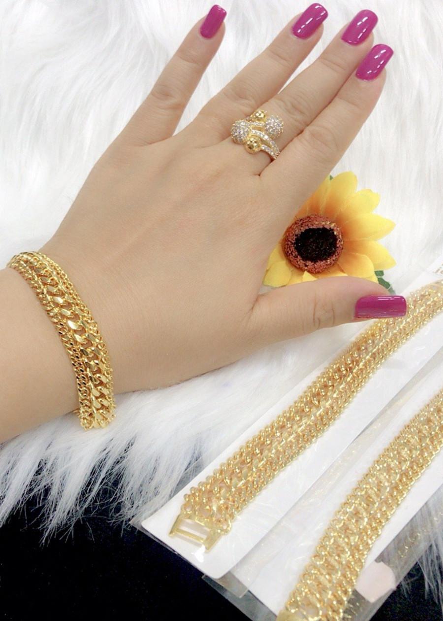 Lắc tay nữ EK 9055 mạ vàng 24k