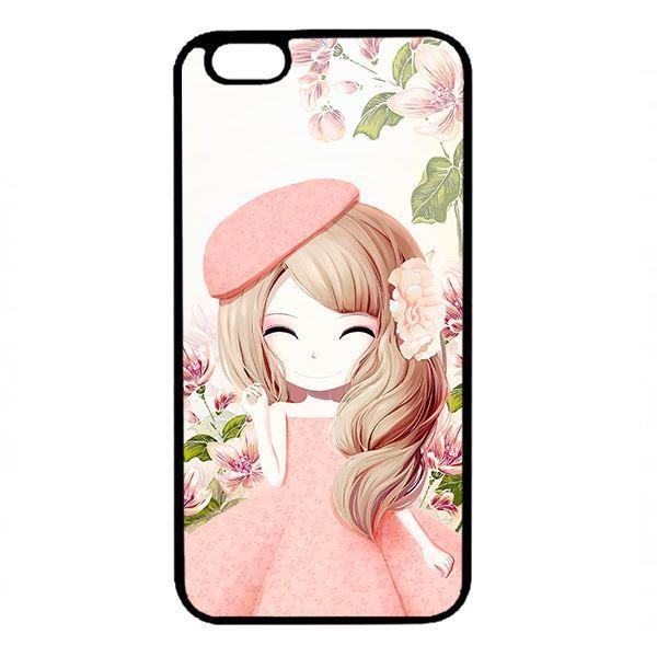 Ốp lưng dành cho điện thoại Iphone 6 Plus Anime Cô Gái Váy Bông
