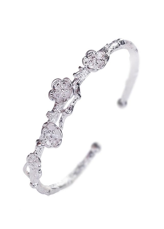 Lắc tay bạc thái cành mai LT016