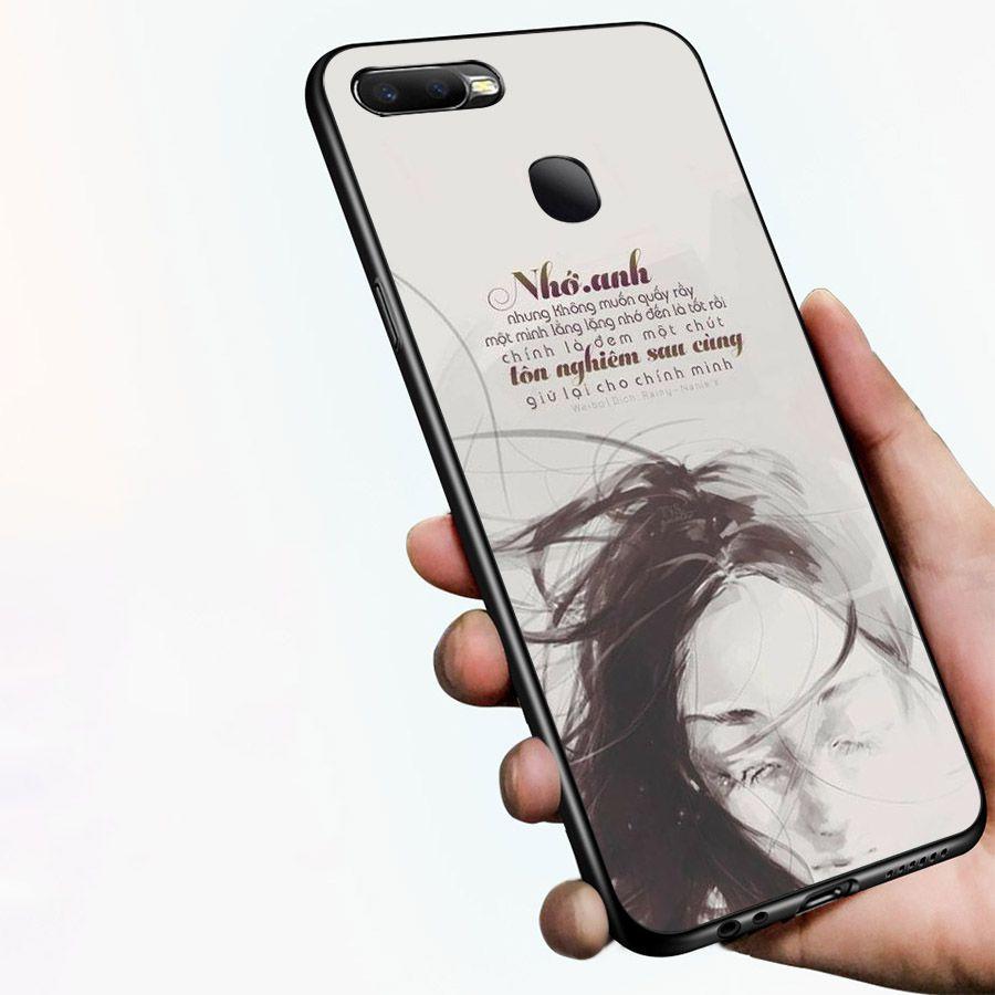 Ốp kính cường lực dành cho điện thoại Oppo F9 - A7 - ngôn tình tâm trạng - tinh2030