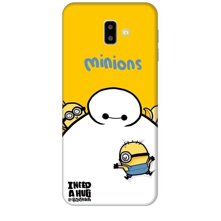 Ốp lưng dành cho điện thoại  SAMSUNG GALAXY J6 PLUS hinh Big Hero Minions