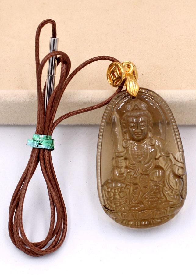 Mặt dây chuyền Phật Văn Thù Bồ Tát Obsidian 3cm MPOBK3 - Phật bản mệnh tuổi Mão - Sản phẩm có kích cỡ nhỏ, phù...