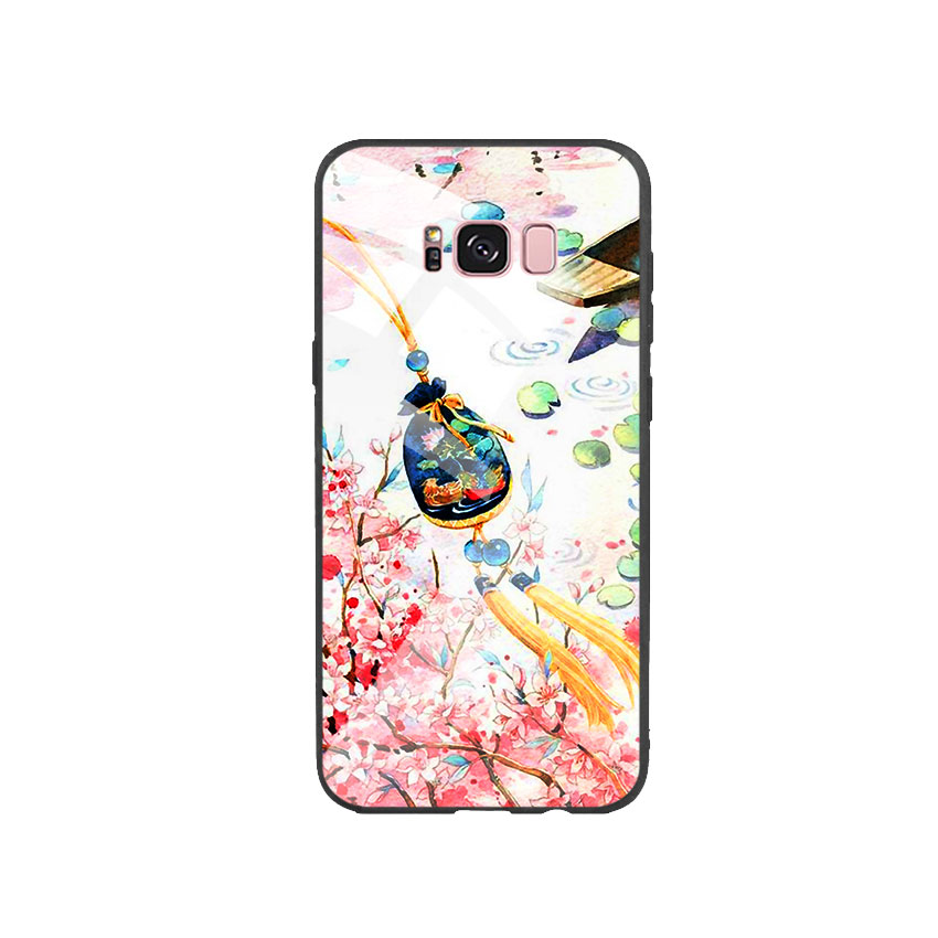 Ốp Lưng Kính Cường Lực cho điện thoại Samsung Galaxy S8 Plus - DHCL Mẫu 3