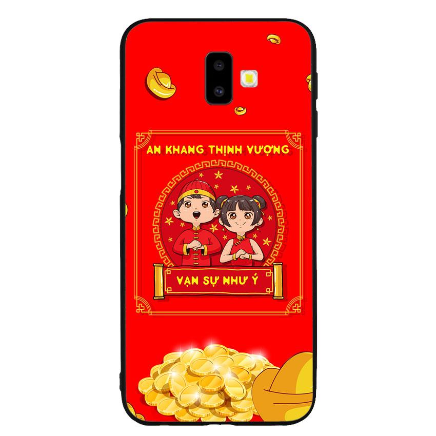 Ốp lưng nhựa cứng viền dẻo TPU cho điện thoại Samsung Galaxy J6 Plus - Vạn Sự Như Ý
