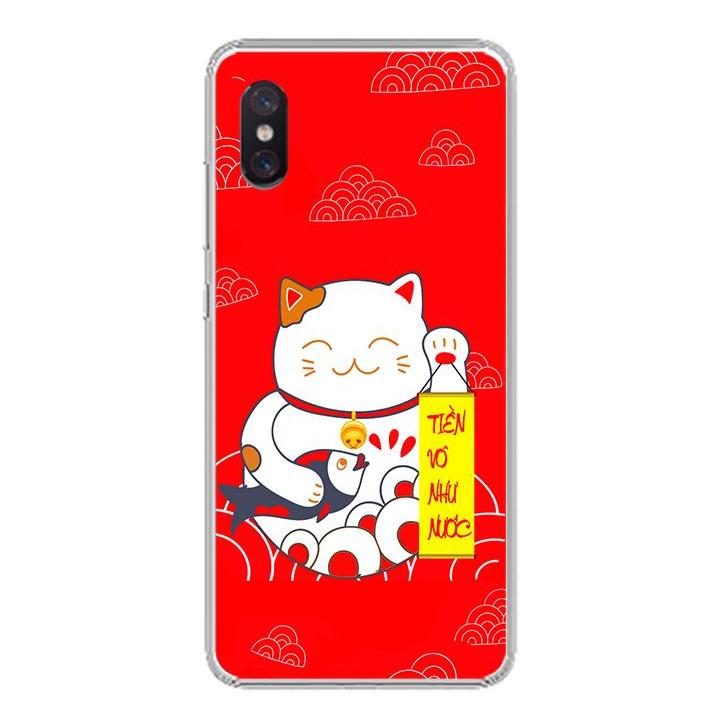 Ốp lưng cho Xiaomi Mi 8 Pro - 0235 MEOTHANTAI01 - Silicone dẻo - Hàng Chính Hãng