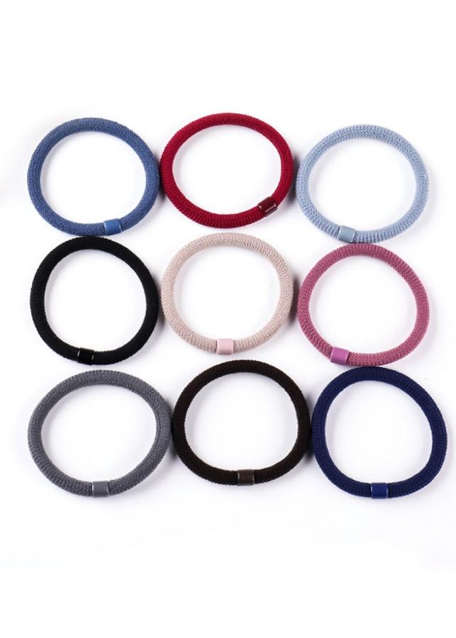 Set 10 dây cột tóc trơn đơn giản nhiều màu ngẫu nhiên COT96