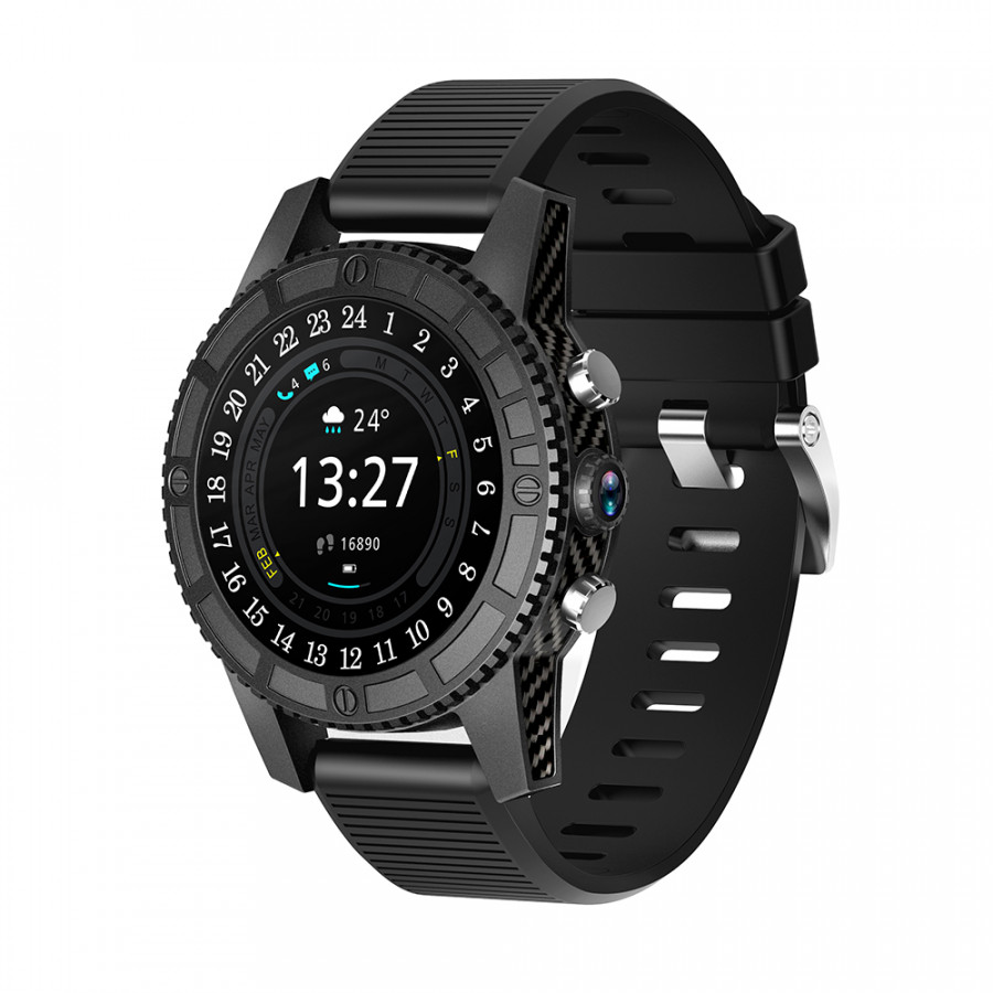 Iqi I7 4G Smart Watch Ip67 Waterproof 1 + 16G Android 7.0 Heart Rate Payment Gps Support Wifi BT 4G Lte 2G Smart - Black