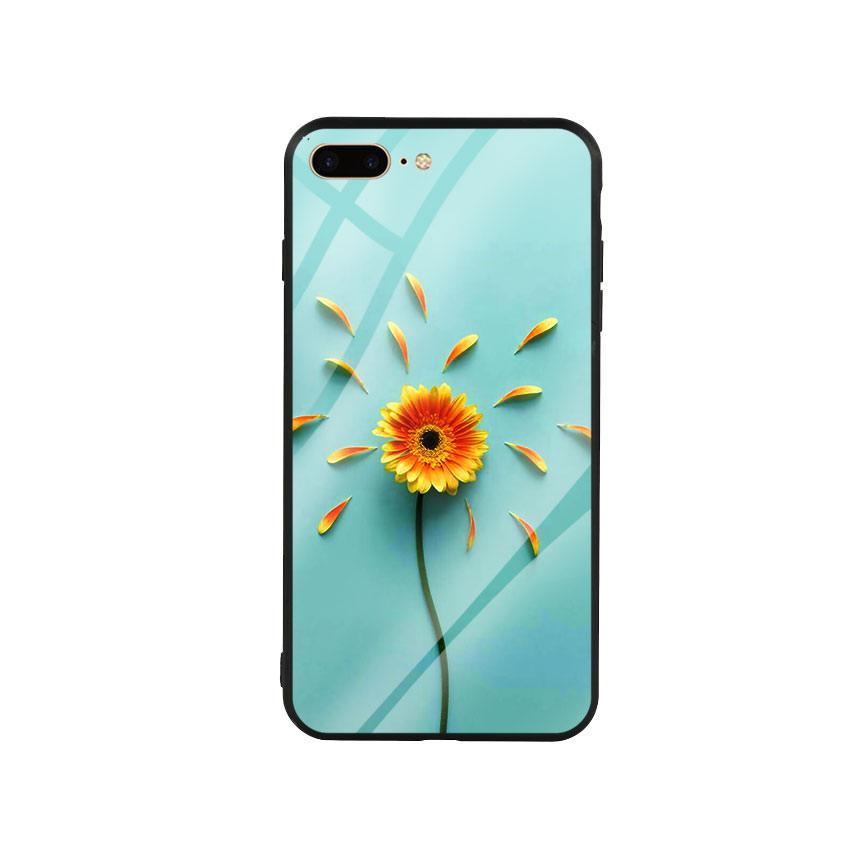 Ốp lưng kính cường lực cho điện thoại Iphone 7 Plus / 8 Plus - Sun Flower 02