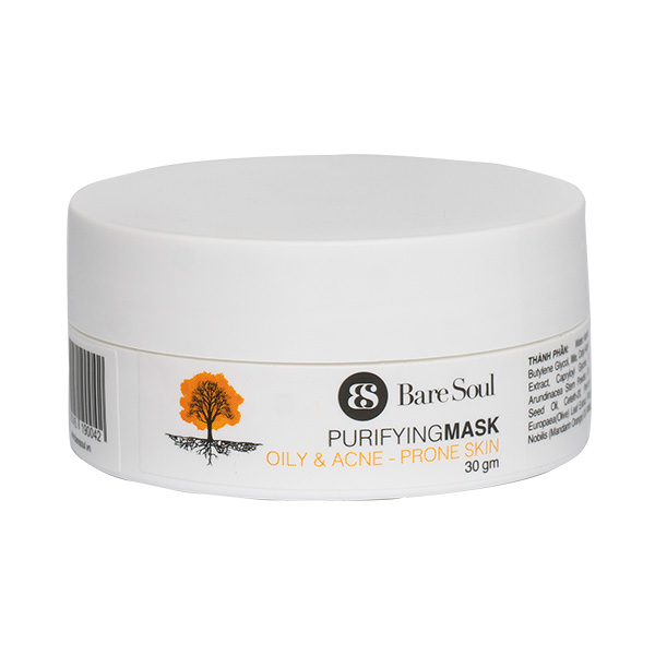 Mặt nạ thanh lọc BareSoul – Da dầu và da mụn full size 30g  – Purifying Mask Oily  Acne Prone Skin